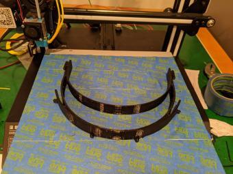Face shield headband off the printer