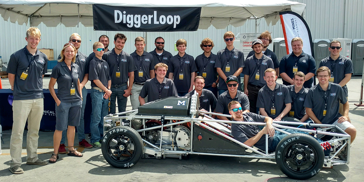 Team DiggerLoop at the SpaceX Hyperloop Competition in California