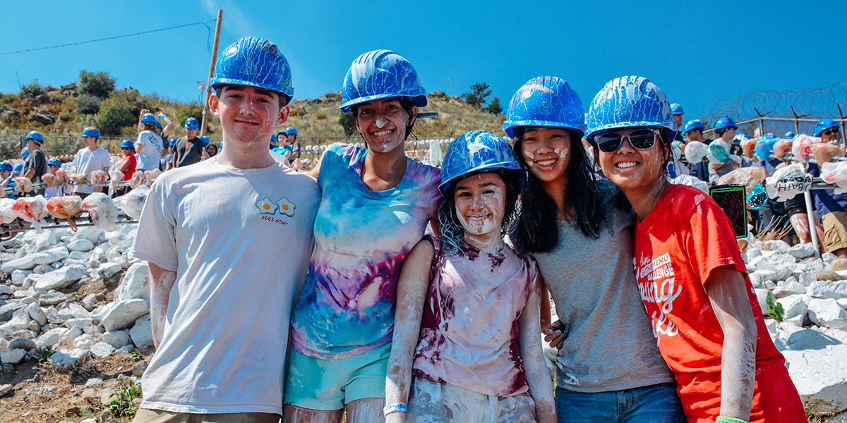Colorado School of Mines students participate in the annual M Climb