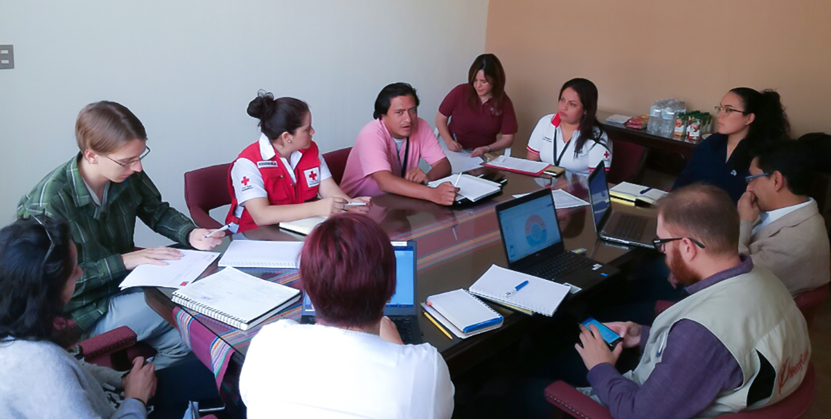 David attended a meeting with an alliance of NGOs that work in managing landslide risk in Guatemala City's settlements.