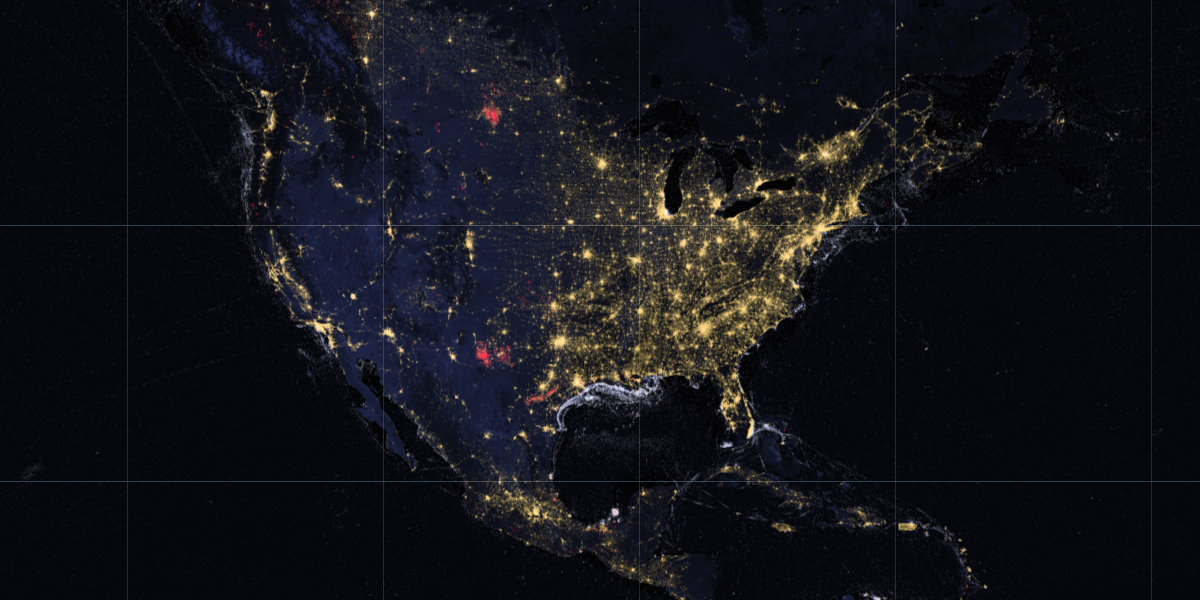 Nighttime lights image