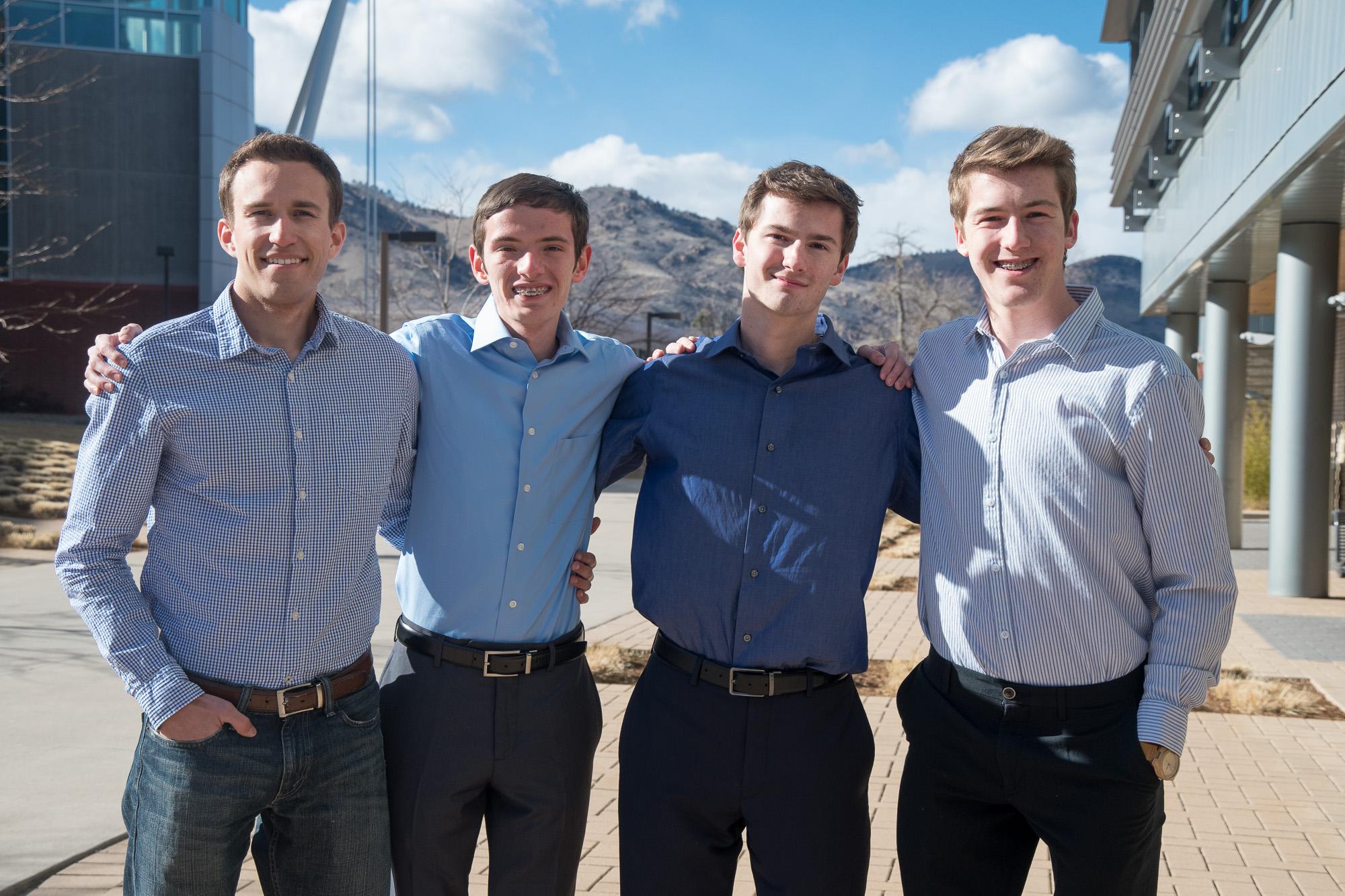 From left, Adam Marcinowski, Michael Thuis, Torin Johnson and Curtis Harrison.