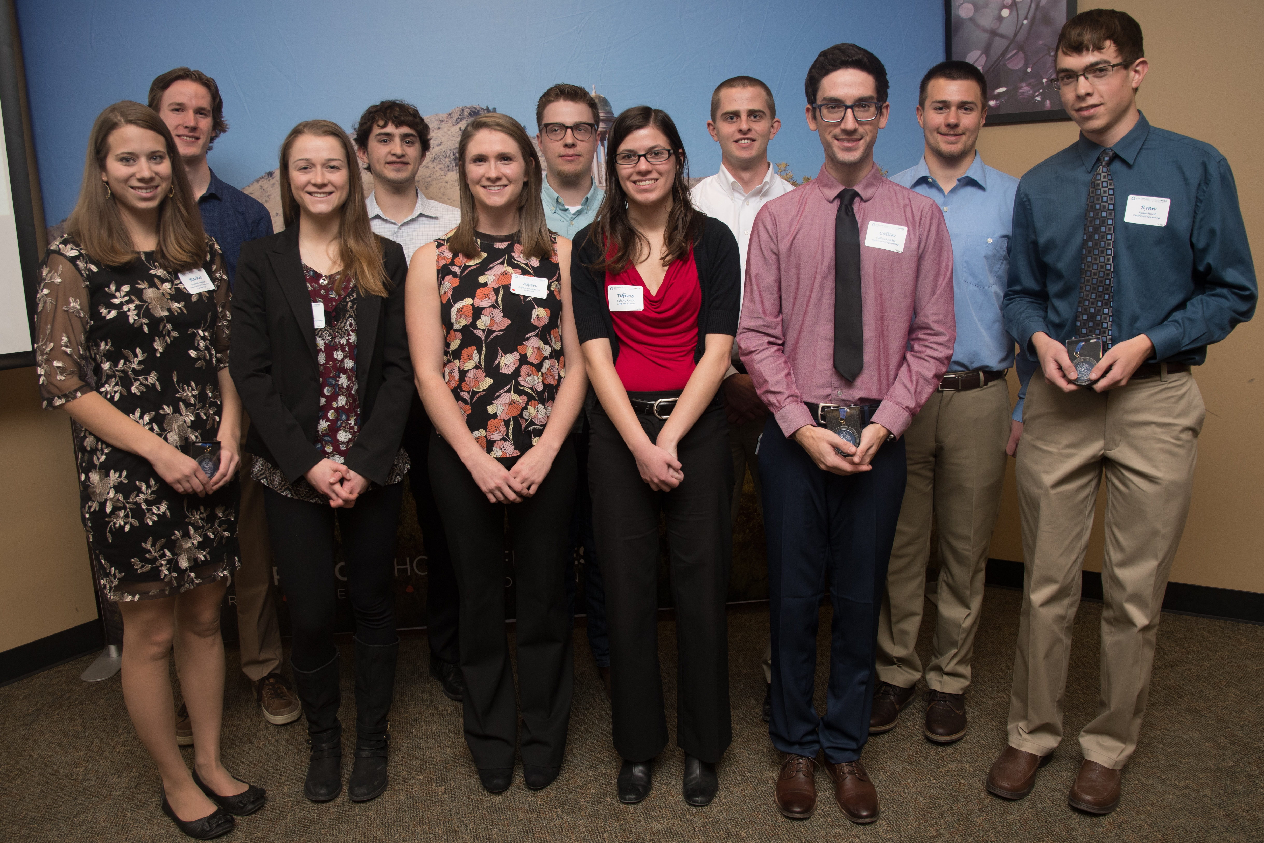 The Fall 2017 Outstanding Graduating Seniors at a luncheon in their honor Dec. 14