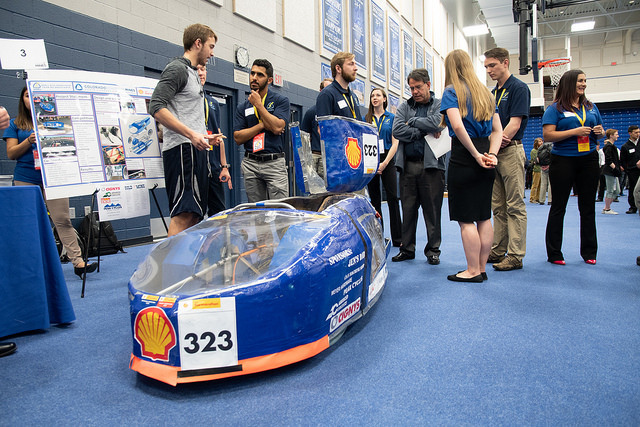 Students present their projects at Capstone Design Showcase