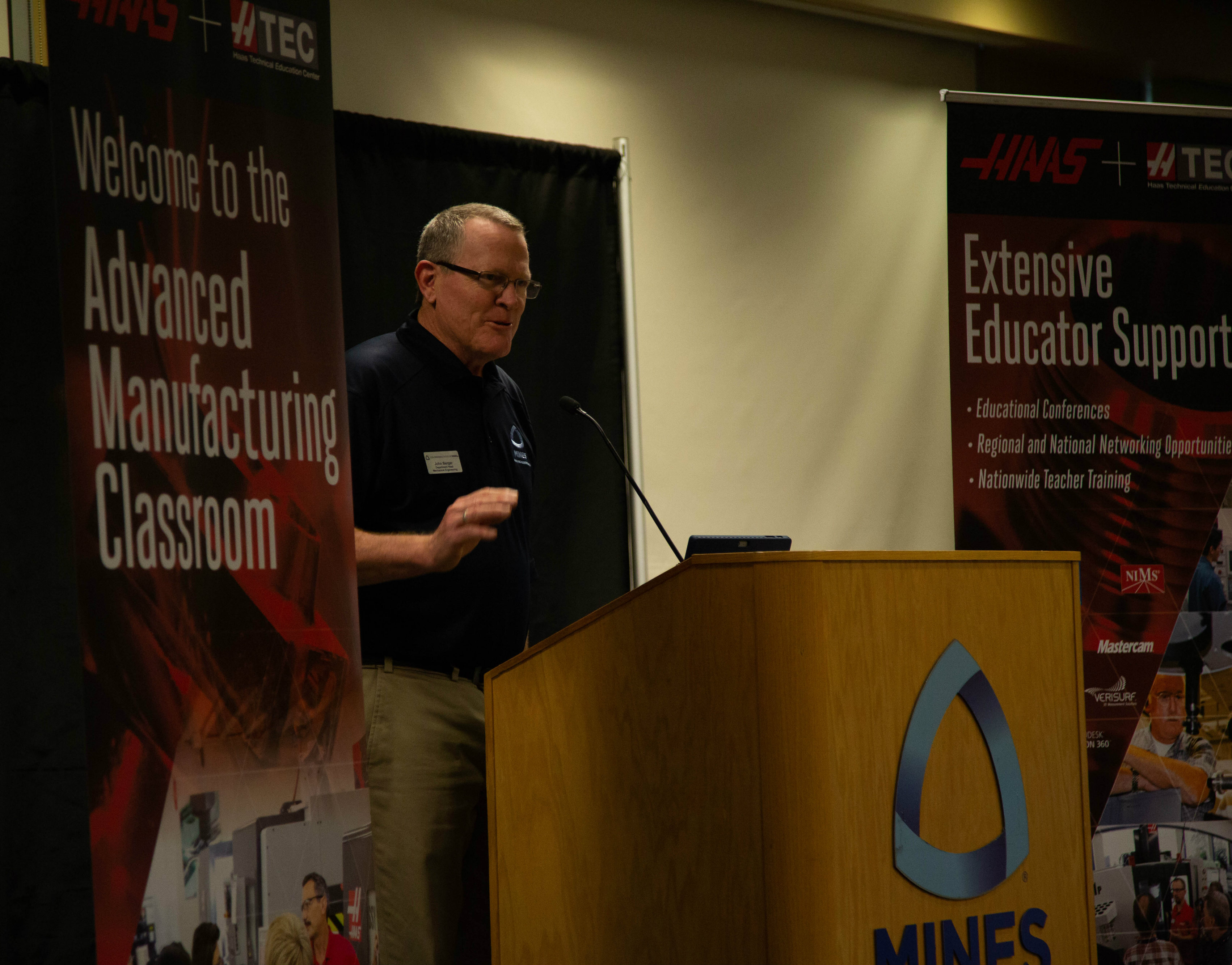 Mines Professor John Berger at the 2nd Rocky Mountain Regional HTEC CNC Educator Conference