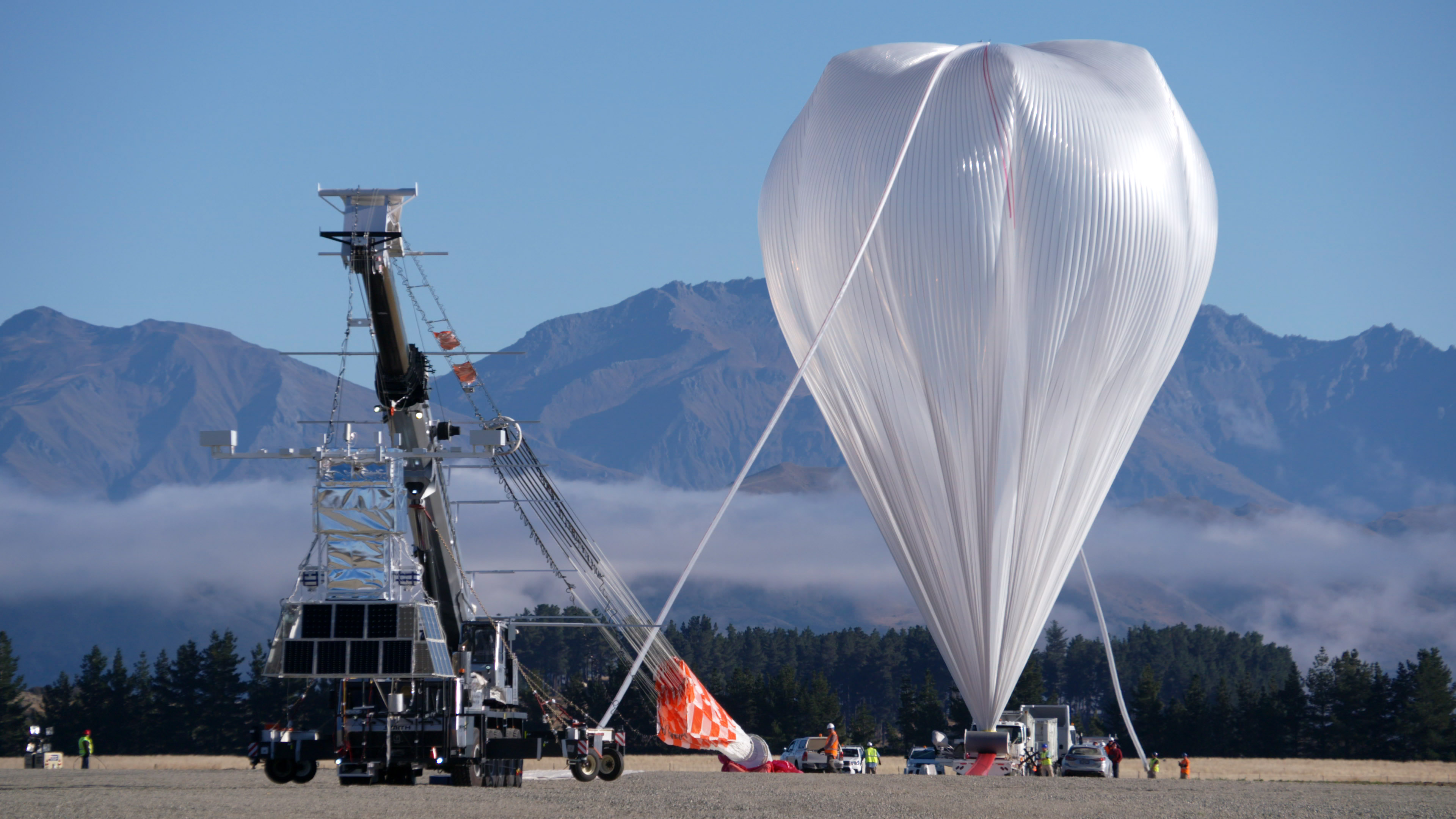 The Extreme Universe Space Observatory on a Super Pressure Balloon as it prepares for launch in New Zealand in 2017