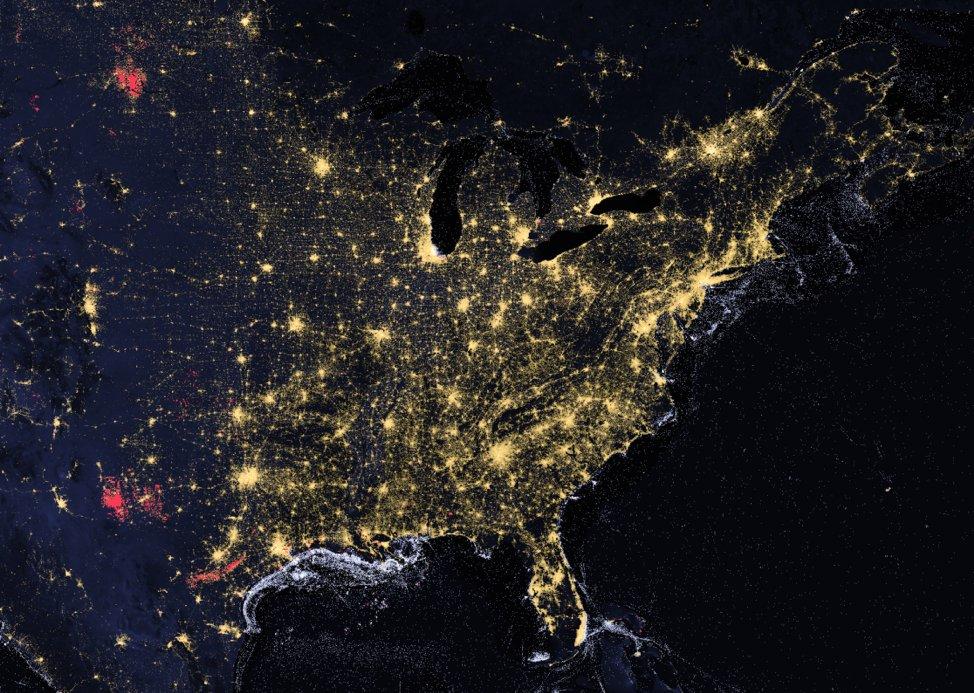Nighttime lights image