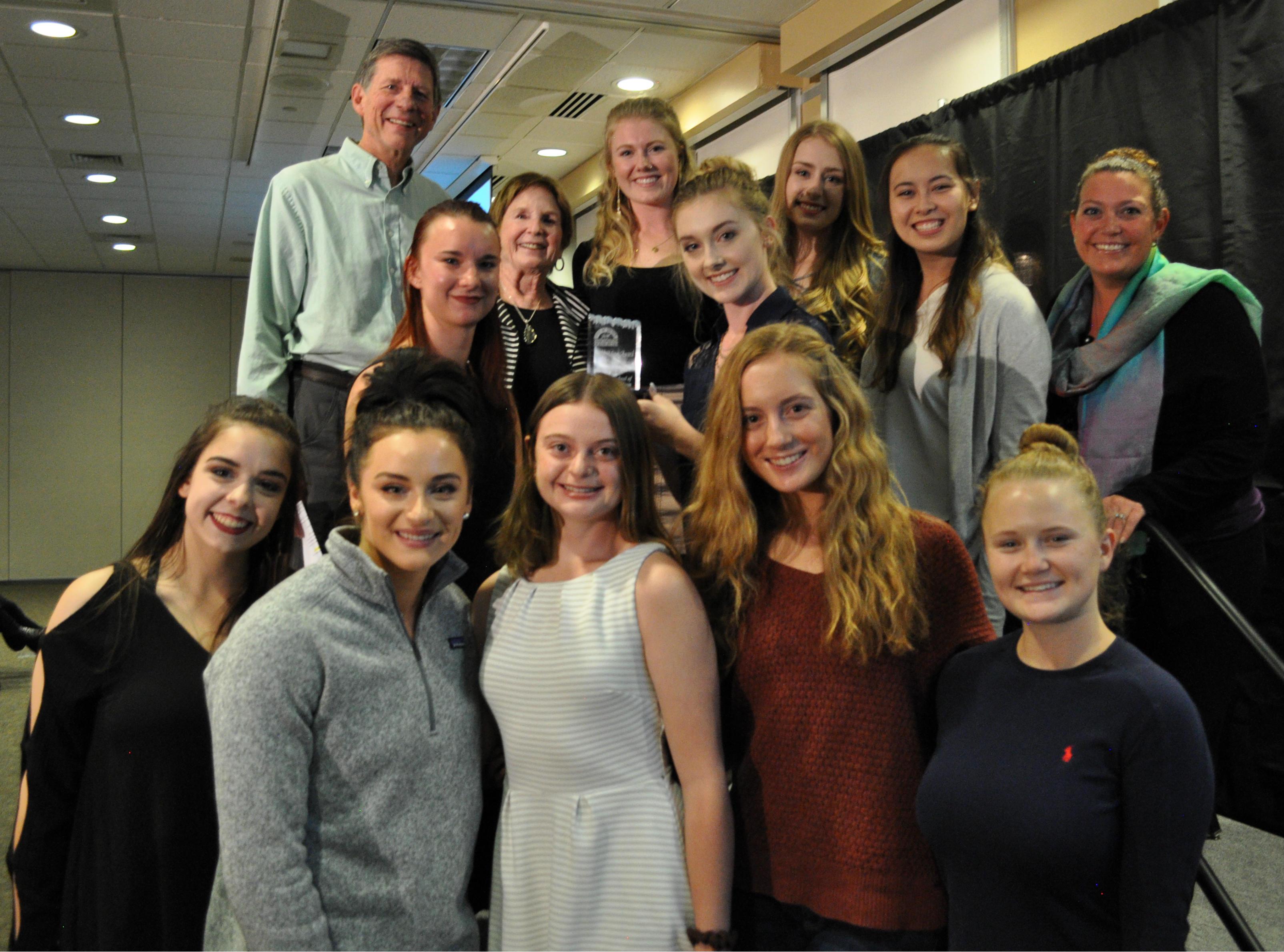 Mines Dance Team accepting their Gold Mine Award