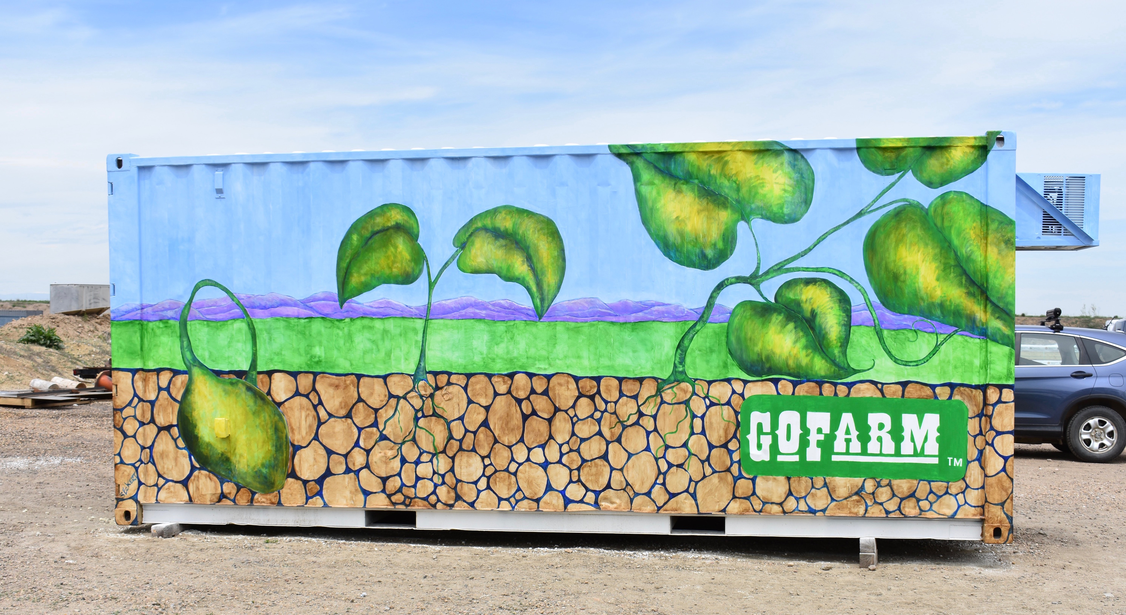 The new GoFarm container in Arvada