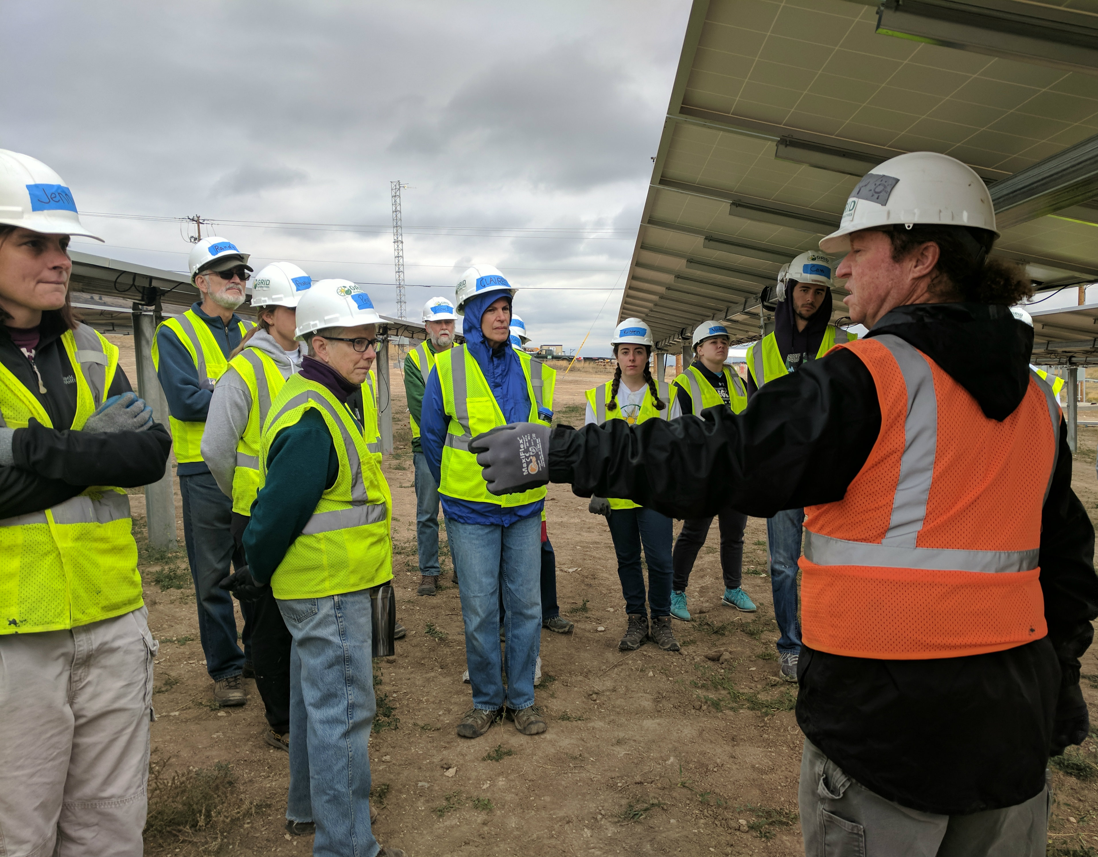 Colorado School of Mines students among the volunteers at a Grid Alternatives build day in Fort Collins