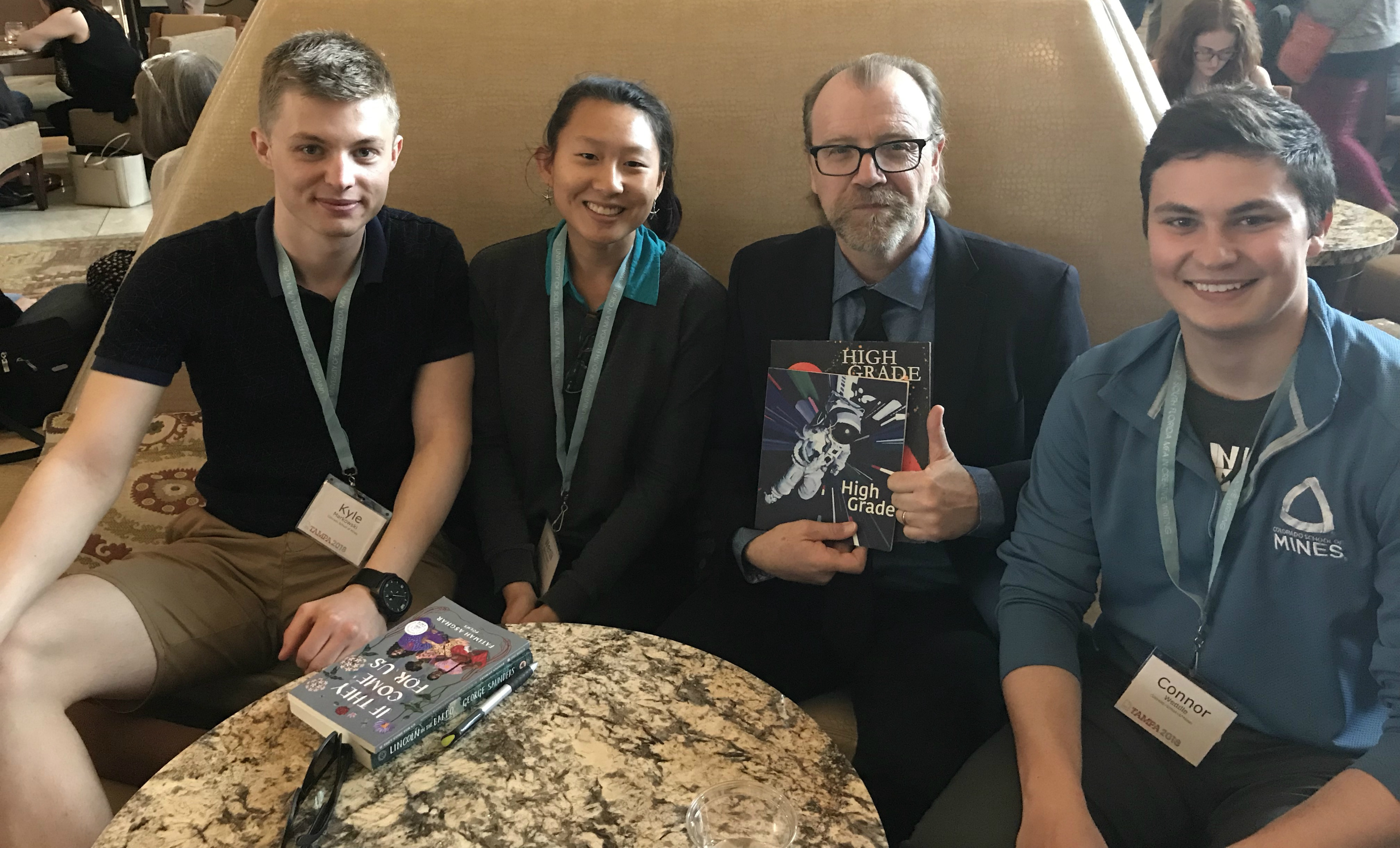High Grade editors Wenli Dickinson, Kyle Markowski and Connor Weddle meet with George Saunders
