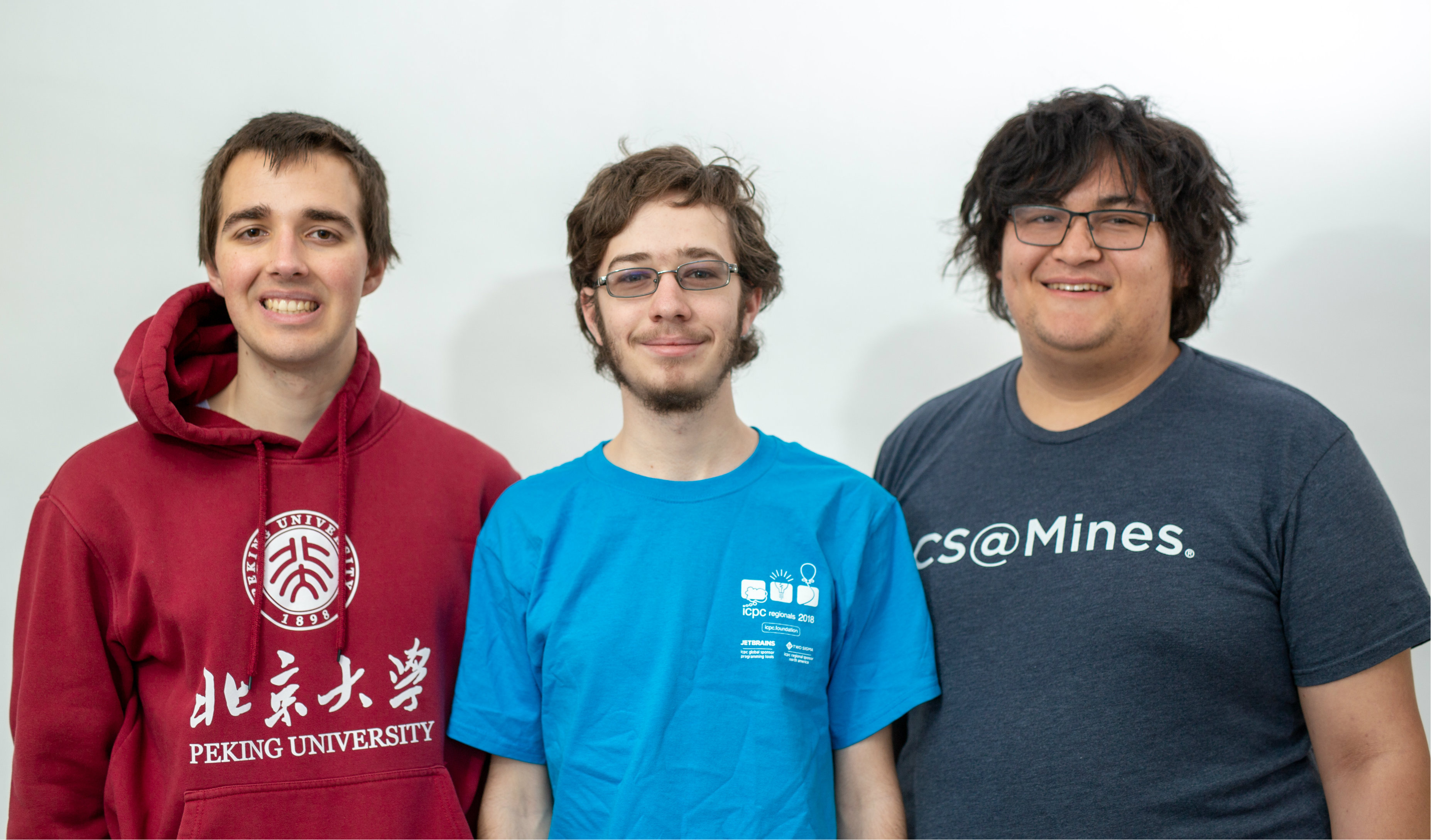 Mines students Matt Baldin, Joseph McKinsey and Sam Reinehr
