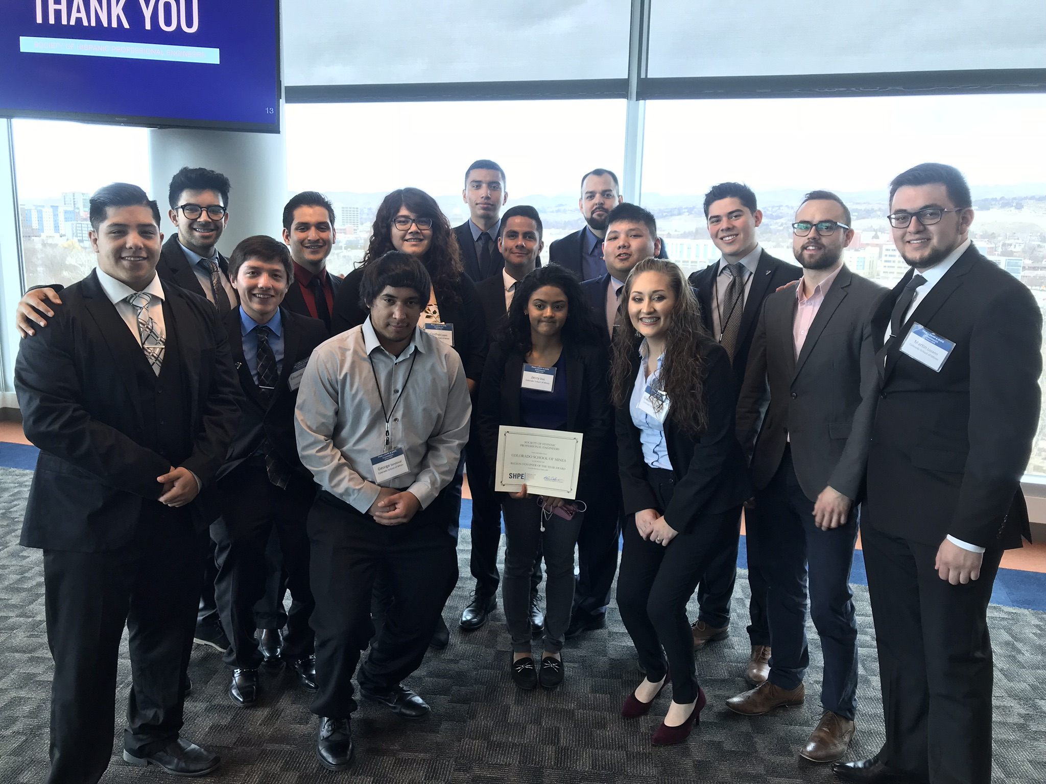 Mines SHPE chapter members