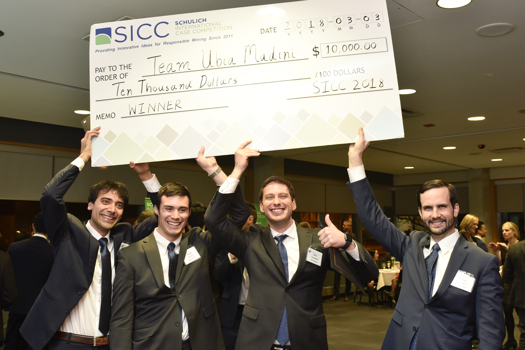 Mines' winning team at the 2018 Schulich International Case Competition