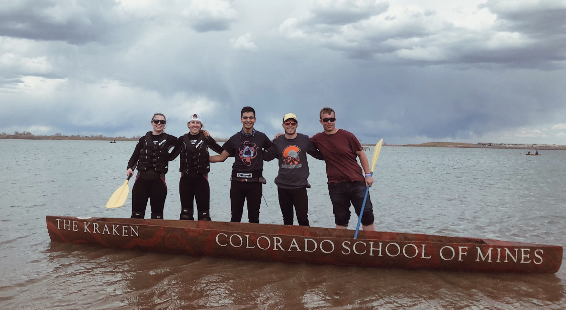 The 2019 Colorado School of Mines concrete canoe