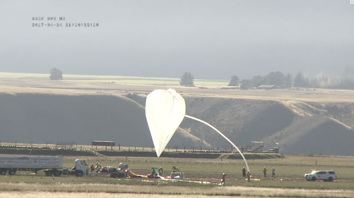 EUSO Super Pressure Balloon is inflated for launch.