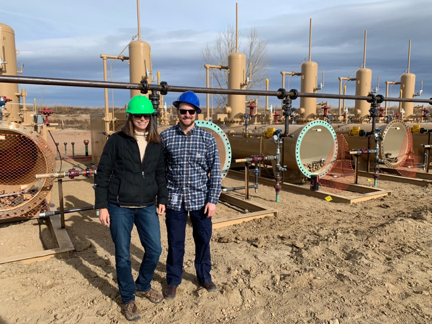 James Rosenblum at a hydraulic fracturing site
