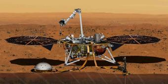 InSight Lander with instruments deployed