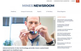 Mines Newsroom screenshot
