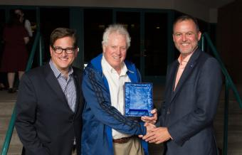 Chris Elvidge, center, receives Galileo Award