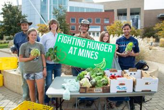 Fighting Hunger at Mines on the plaza