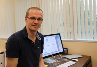 Vladan Stevanovic in the office