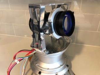 The team's prototype laser transmitter