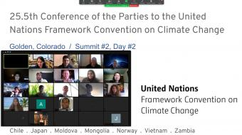 Global Studies Environment students hold UN Convention on Climate Change online.