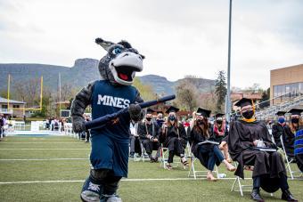 Mines mascot Blaster