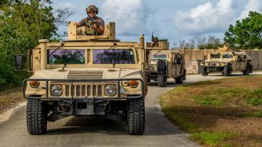 Army MRAP vehicles