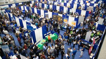 Overhead shot of Fall 2019 Career Day