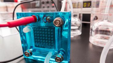 Hydrogen fuel cell stock image