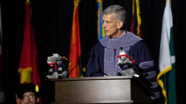 President Paul C. Johnson at Fall 2019 Commencement