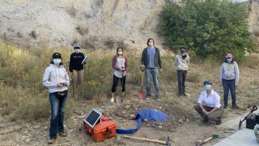 Earthquake Seismology class with their newly installed seismometer