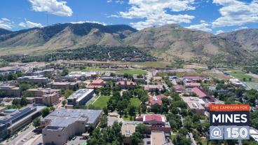 Aerial shot of Mines campus