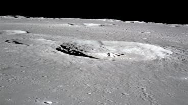 NASA photo of crater on the Moon's surface