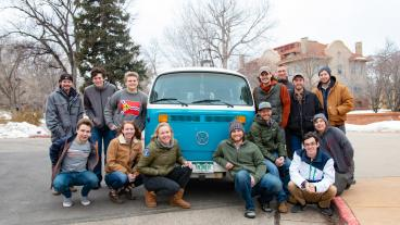 ReVolt team with the 1979 VW bus