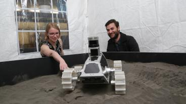 Undergraduate students in space mining