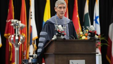 President Paul C. Johnson at commencement