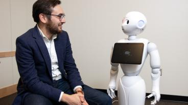 Tom Williams looks at Pepper the robot