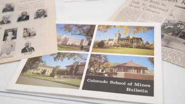 A Colorado School of Mines Bulletin was one of the items inside the 1968 Time Capsule.