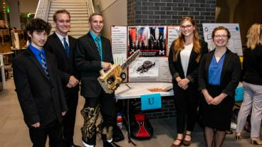 Blaster Disaster Rescue Team with their winning Cornerstone Design project