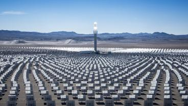 File photo of concentrating solar power system