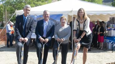 Mines President Paul C. Johnson, Confluence CEO Tim Walsh, Golden Mayor Marjorie Sloan and Mines COO Kirsten Volpi