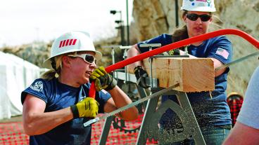 The Mines women's team took first place at the Intercollegiate International Mining Games held on the Mines campus in spring 2013. The university also has a women's mine rescue team.