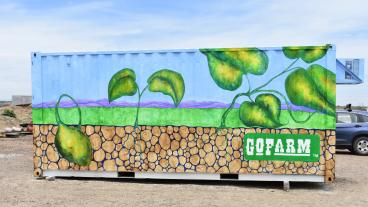 One of GoFarm's new containers in Arvada