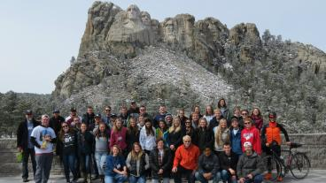 Mines ASCE chapter at Mount Rushmore