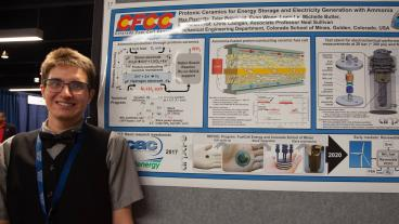 Mechanical engineering master's student Max Pisciotta won best poster at the 2018 oSTEM Annual Conference.