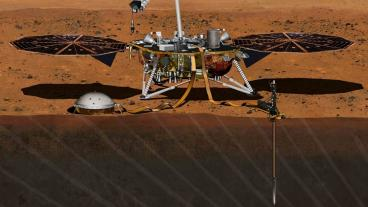 Rendering of NASA Mars InSight lander