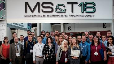 Mines students and faculty at MS&T16.